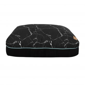 Charlie's Rectangular Funk Pet Bed Pad- Black Marble Small