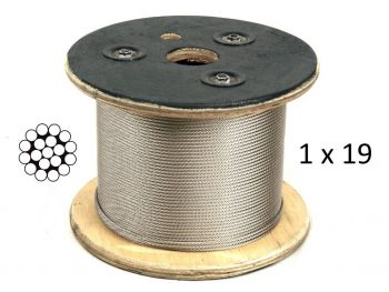 3.2mm 1x19 G316 Stainless Steel Wire Rope