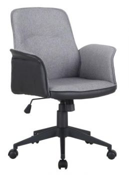 Baia Premium Fabric Executive Office Chair - Grey/Black