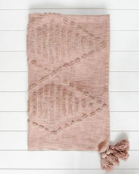 Throw Blanket - Robshaw - Dusty Blush - 125x150