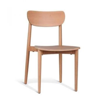 Nord Notodden Dining Chair - Natural Frame - Natural Timber Seat