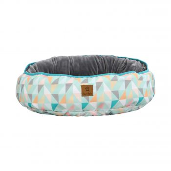 Charlie's Pet Reversible Oval Pad Bed - Green Triangle Medium
