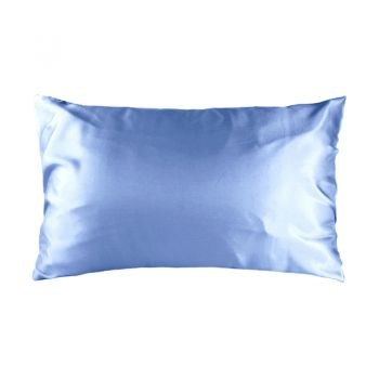 Std Satin Pillowcase 48cm x 73cm Blue Haze