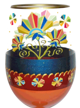 Bottom's Up Deco Floral Stemless