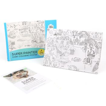GIANT COLORING POSTER PADS - THE WORLD