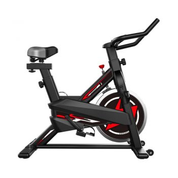 JMQ FITNESS 6105 Indoor Cycling Exercise Spin Bike for Professional Cardio Workout Indoor Red