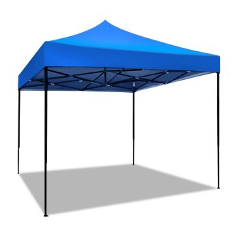 Mountview Foldable Pop Up Gazebo Canopy 3x3M in Blue Colour