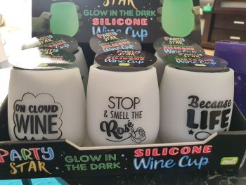 Glow in the Dark Wine Cups - Because Life