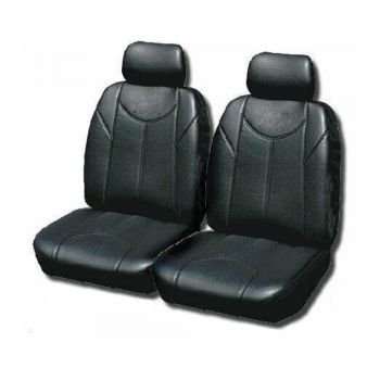Leather Look Car Seat Covers For Volkswagen Amorok Dual Cab 2011-2020 | Black