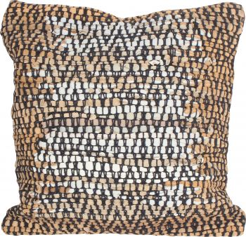 LOSOONG COTTON LEATHER HAND KNIT CUSHION COVER ARGYLE 45 X