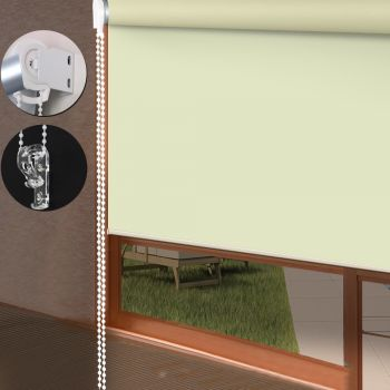 Quality Modern Blockout Roller Blinds Curtain 120cmx210cm in Cream