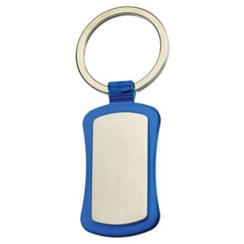 Duo Key Tag Key Ring Keyring School Bag Badge - Blue