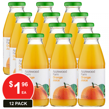 12 Pack, Applewood 350ml Orange Juice
