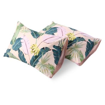 Dreamaker 300TC Cotton Sateen Printed Standard Pillowcase 2 Pack Pink Banana