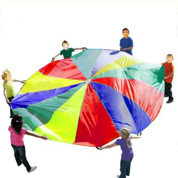 3.5M Kids Play Parachute 12 Handles Portable Outdoor Indoor Toy Multi-Colour