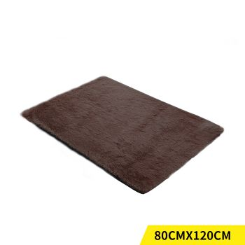 Designer Shaggy and Soft Home Decor Floor Rug 80x120cm in Coffee