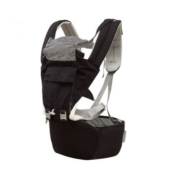 Ergonomic Hip Wrap Baby Seat Carrier for Infants in Navy