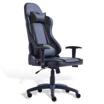 Levede Executive Gaming Office Chair Racing Computer PU Leather Work Race Black