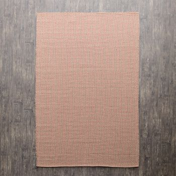 """Hand Made Jute-Cotton Flatweave Rug """"Houndstooth"""" in Red. Size 240x340 cm"""