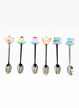 Tea Party 6Pce Spoon Set Beautifully Gift Boxed Great gift idea
