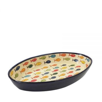 Colour Fish Oval Tray