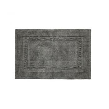 Cotton Deluxe Bath Mat Pewter
