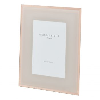 10 x 8 Blush / Rose Gold Glass Photo Frame