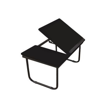 Portable Foldable Bed Table Stand in Black