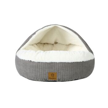 Charlie'S Snuggle Hooded Pet Nest Silver - Small