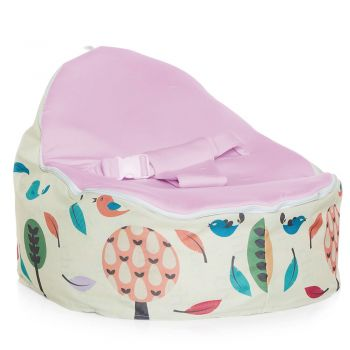Chibebe Woodlands Baby Bean Bag - Grape