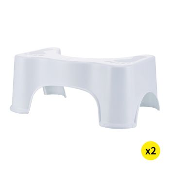 2xPotty Toilet Step Stool for Healthy Colon Aid and Constipation Relief