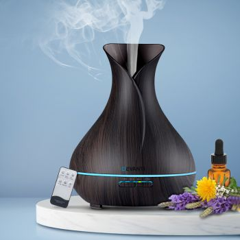 Devanti Ultrasonic Aroma Aromatherapy Diffuser Oils Air Humidifier Dark Wood