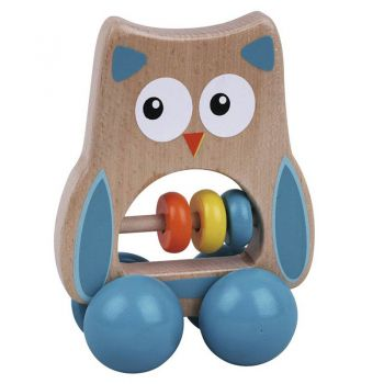 Wooden Wheelie Owl