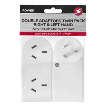 2400W Double Right and Left Adaptor 2 Pack