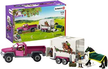 Schleich Pick up Ute with Horse Box & Figure 42346