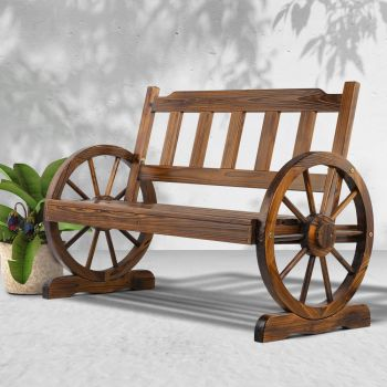 Garden Bench Seat Wooden Wagon Chair Outdoor Chairs Garden Backyard Patio Park Furniture Gardeon