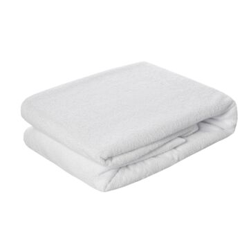 Dreamaker Cotton Terry Towelling Waterproof Mattress Protector - King Single Bed