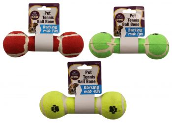 Dog Toy Tennis Ball Bone 20cm