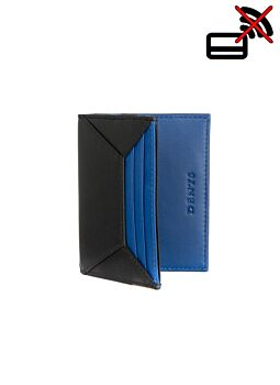 Two Colour Leather Card Holder with RFID Blocking Protection