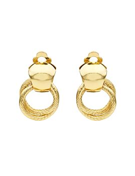 Barcs Australia Linked Rings Women's Gold Plated Clip Earring
