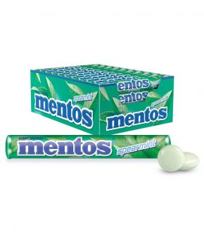 Mentos Spearmint Candy Roll, 40 Rolls, A Refreshing Burst of Spearmint