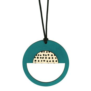Spotted green pendant