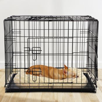 """i.Pet 36"""" Dog Cage Pet Crate Puppy Cat Foldable Metal Kennel Portable 3 Doors L"""