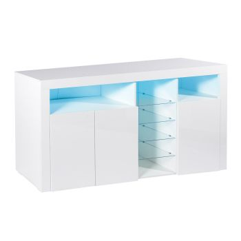 Levede Buffet Sideboard Cabinet Storage Modern High Gloss Cupboard White