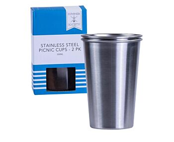 Stainless Steel Eco Tumbler 350ml 2 Pack