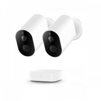 Xiaomi IMILAB EC2 Wire-Free 1080P HD Outdoor Camera & Gateway Bundle 1080P HD AES128 Encryption Night Vision