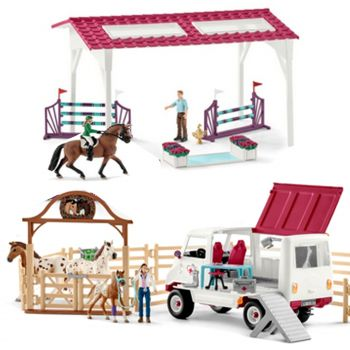 Schleich Large Playset Horse Club Fitness Check for the Big Tournament 72140