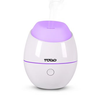 120ml Humidifier Aromatherapy Diffuser 7 Colour Led Ultrasonic Mist - White