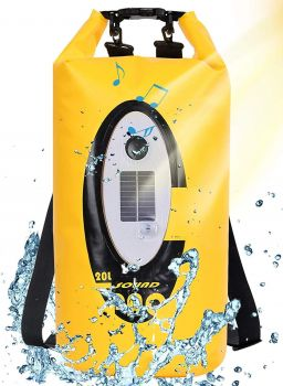 20L Dry Bag Backpack with Bluetooth Speaker solar LED lamp charger Waterproof Ip66