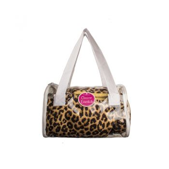 Microfibre Glamour Essentials Beauty Pack Pink Leopard